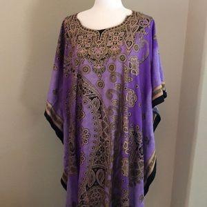 Dresses & Skirts - EUC! Purple and Gold Caftan